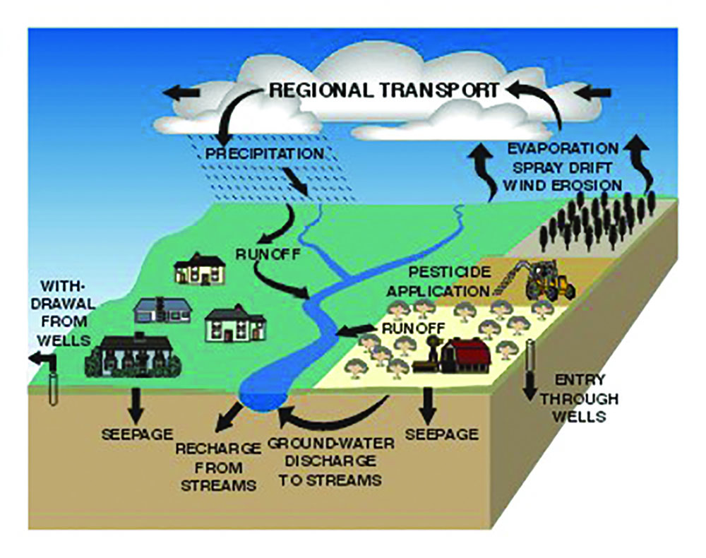 Pathways of pesticide movement in the hydrologic cycle from www.pubs.usgs.gov