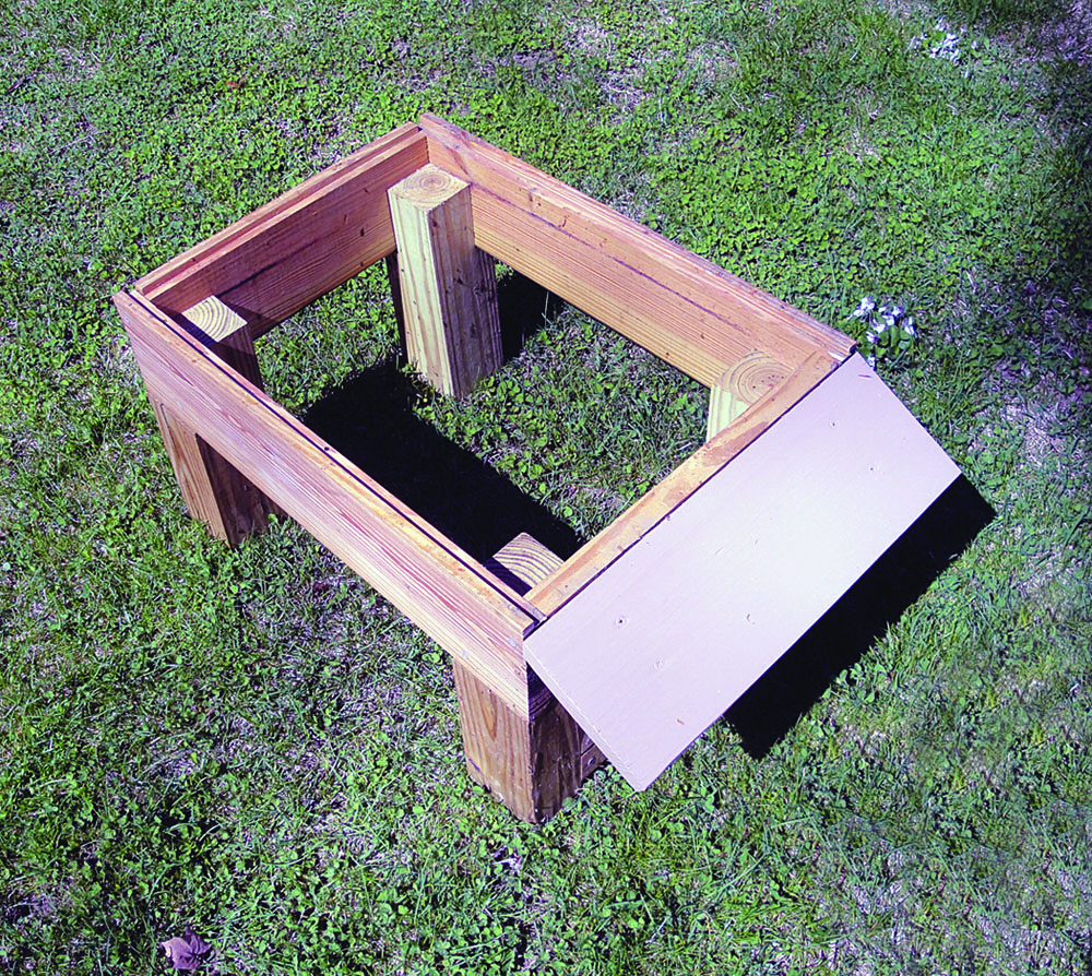 R.O.'s basic hive stand.