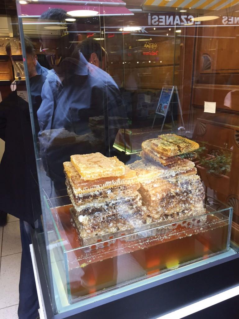 Etabul comb honey in Istanbul.