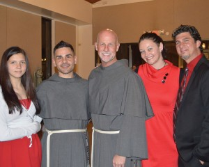 Being festive with our favorite priests.