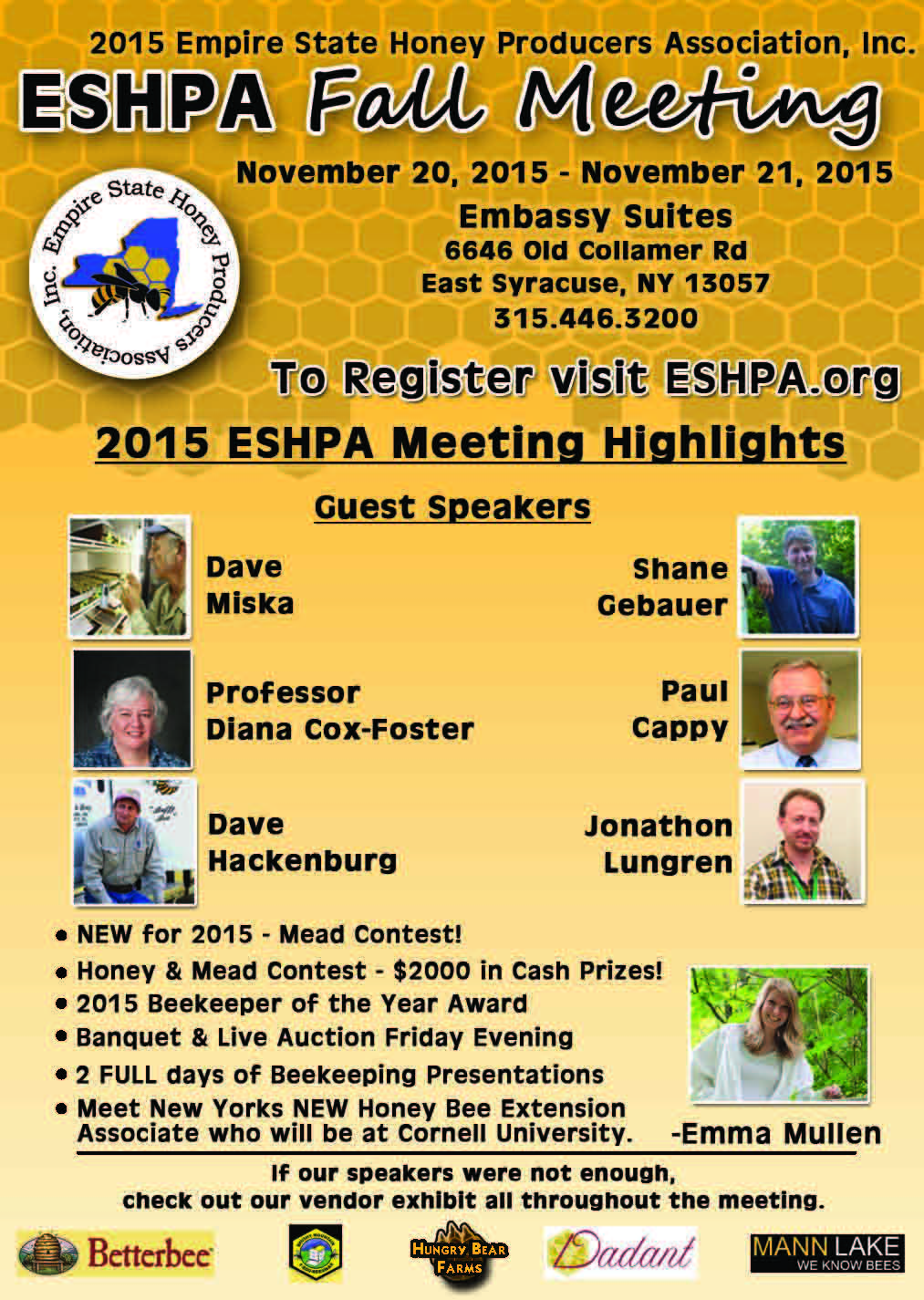 CATCH THE BUZZ – ESHPA Fall Meeting