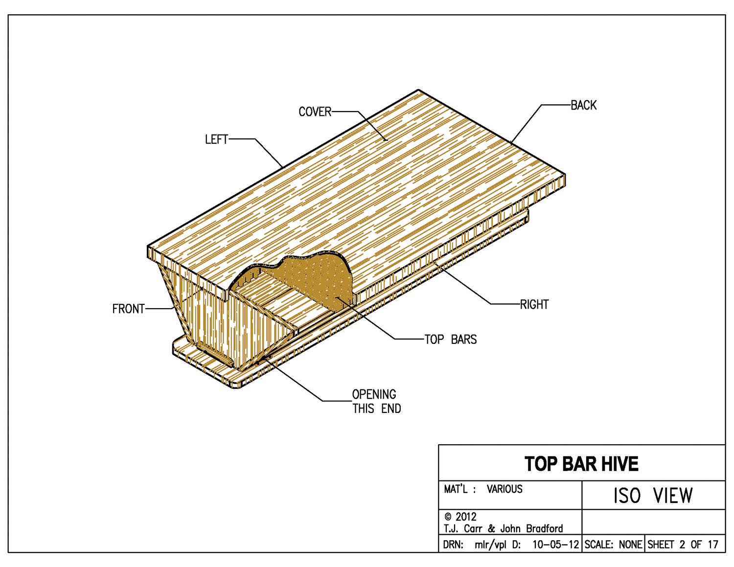 Hives Should Provide A Cavity Shape And Volume That The Bees Find  Receptive, And Top Bar Hives With Dimensions Approximately The Same As Ours  Have Been ...