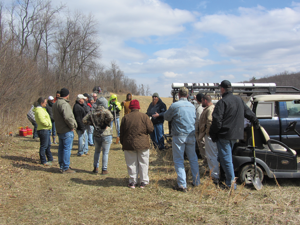 Veterans and Warriors at Agriculture class at Geezers Ridge Farms being taught by Ed Forney.