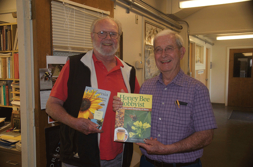 Two retired bee researchers and two new books. Robin Thorp with Bees of California and Norm Gary with Honey Bee Hobbyist.