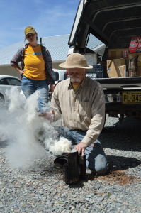 Don Hopkins gives a training on lighting a smoker that makes it look easy.