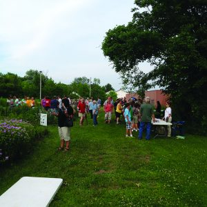 In June we invited The Medina Beekeepers, and anybody who wanted to, to come visit the gardens, and talk to reps from all of the garden sponsors.