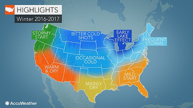 CATCH THE BUZZ – US winter forecast: Frequent snow to blast Northeast; Freeze may damage citrus crop in South