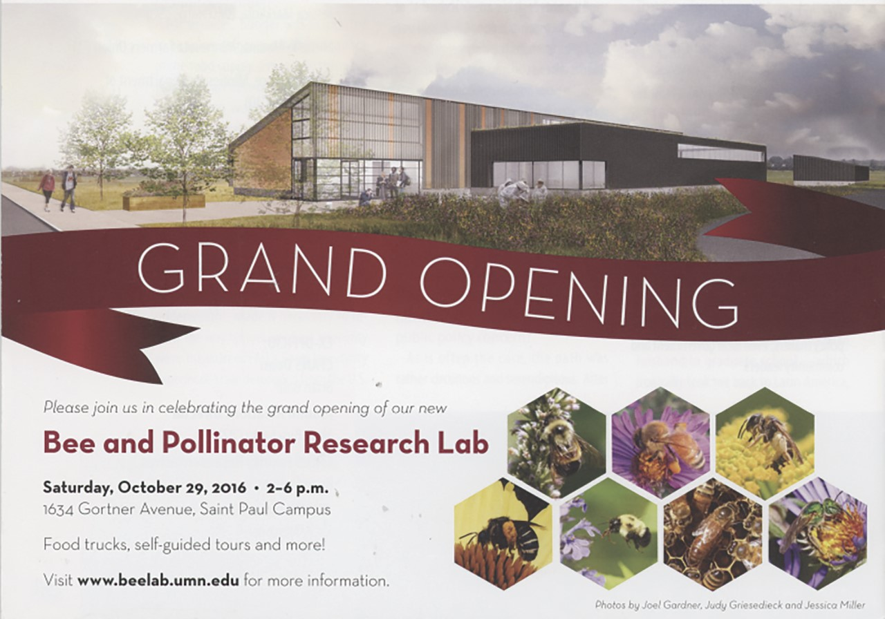 CATCH THE BUZZ – Join Us in the Grand Opening of University of Minnesota's Bee and Pollinator Research Lab!
