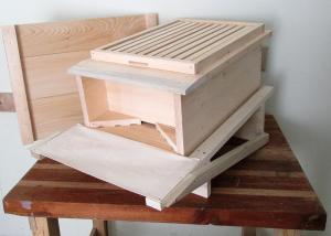 Completed hive side view.