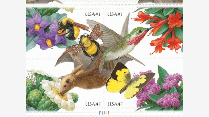 CATCH THE BUZZ – Monarch Butterfly, Western Honey Bee Star on New Stamps Highlighting Pollinator Protection