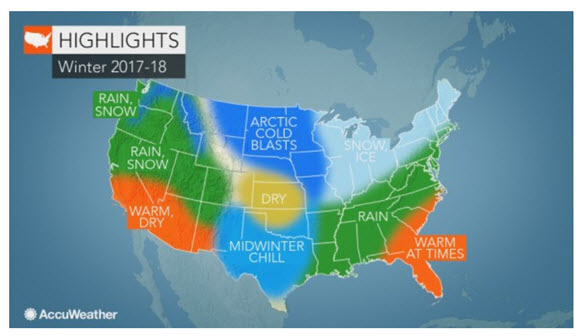 CATCH THE BUZZ – US Winter Forecast: La Niña To Fuel Abundant Snow In Rockies; Bitterly Cold Air To Blast Midwest