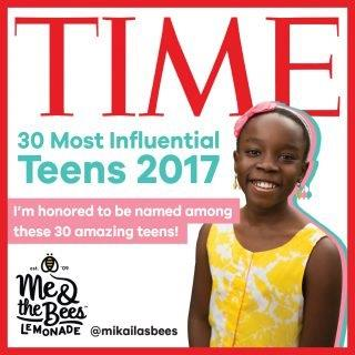 CATCH THE BUZZ – Me & The Bees Lemonade Founder Mikaila Ulmer Named Time Magazine's 30 Most Influential Teens Of 2017.