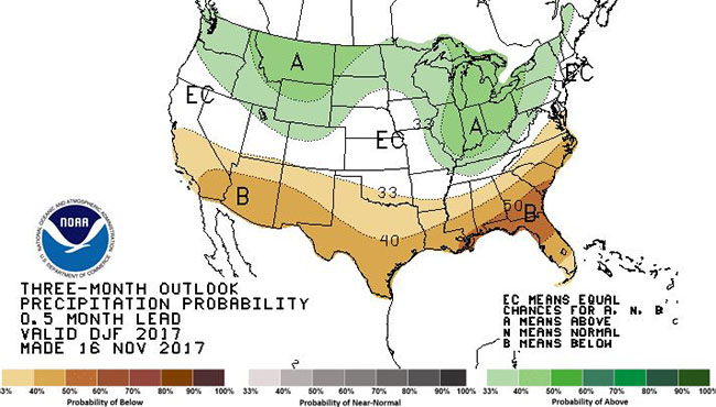 CATCH THE BUZZ – December through February Weather Outlook 'Heavily Influenced' by La Nina.