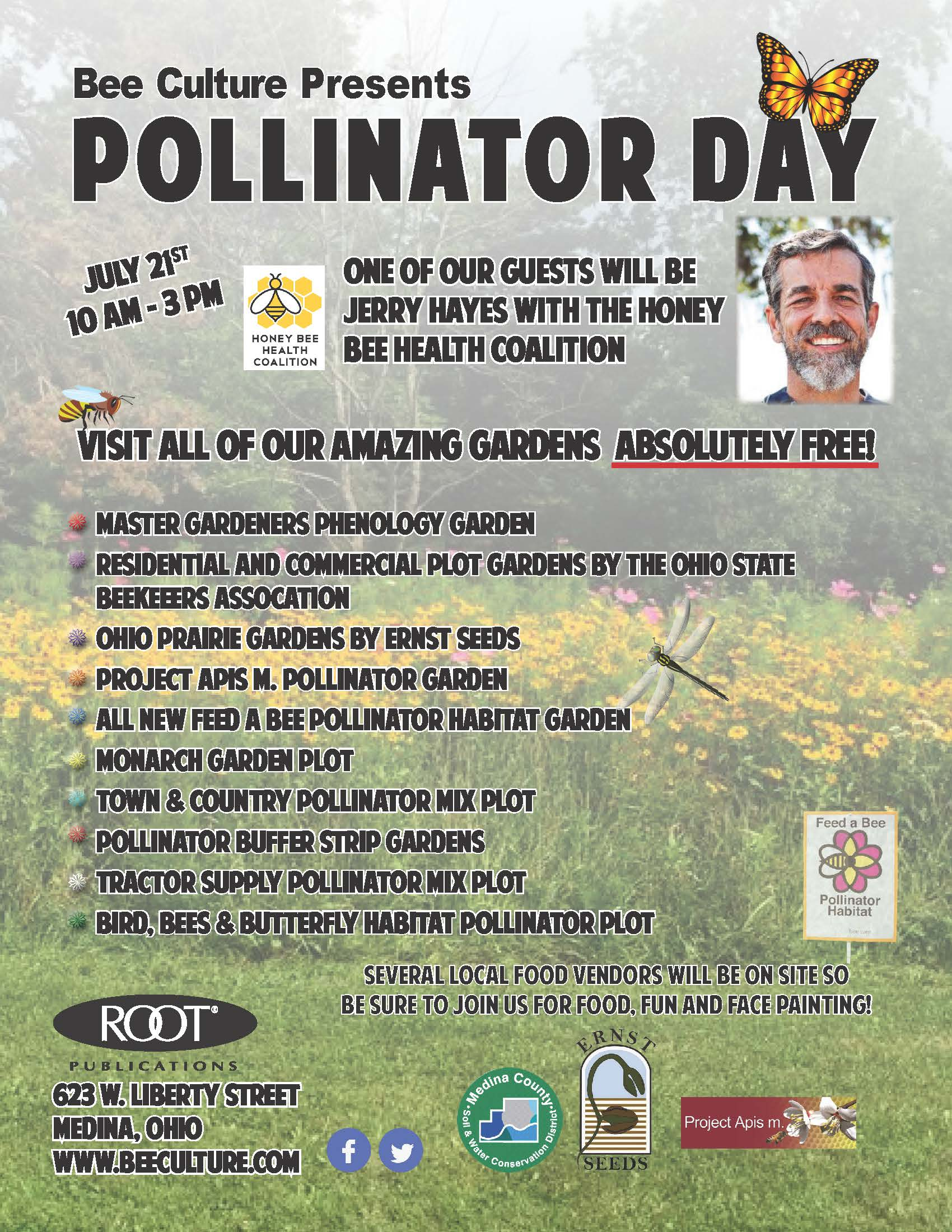 CATCH THE BUZZ – Bee Culture's Pollinator Day – July 21, 2018