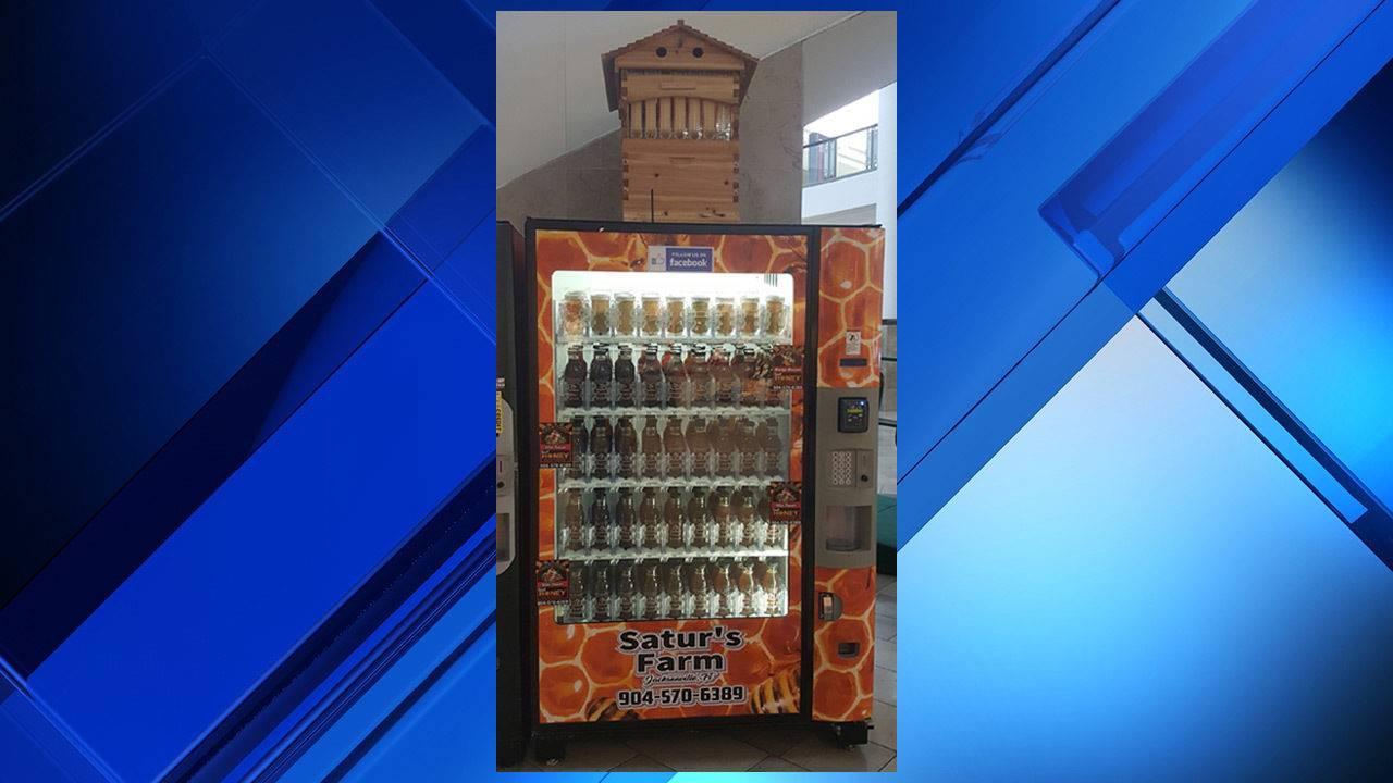 CATCH THE BUZZ – Vending Machine at Jacksonville's Avenues Mall Dispenses Honey