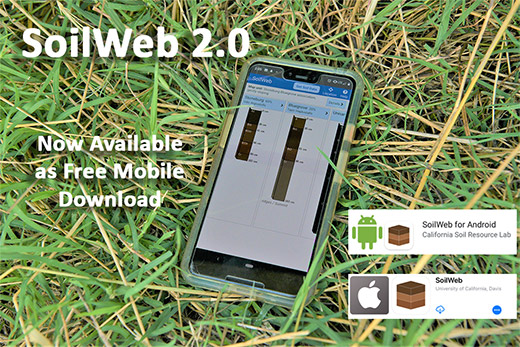 CATCH THE BUZZ – NRCS, UC Davis Announce Release of SoilWeb 2.0 App Update. What Soil are You Standing on, Right Now?