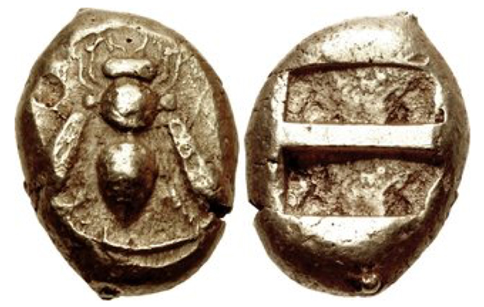 CATCH THE BUZZ – Ancient Coins Were Adorned With Honey Bees. Honored, Almost Magical.