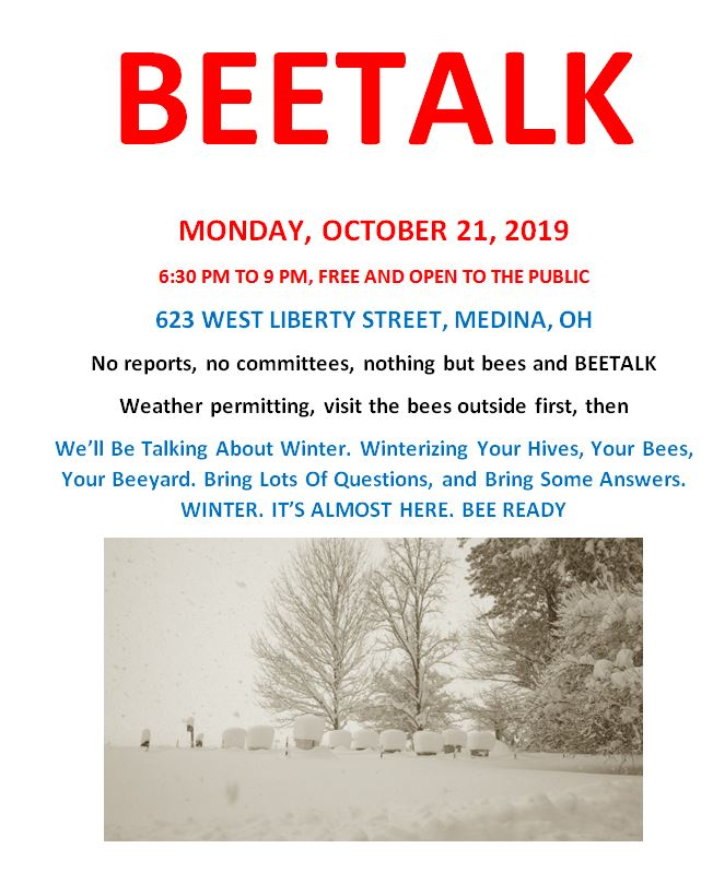 CATCH THE BUZZ – Bee Culture's BEETALK – Monday, October 21st