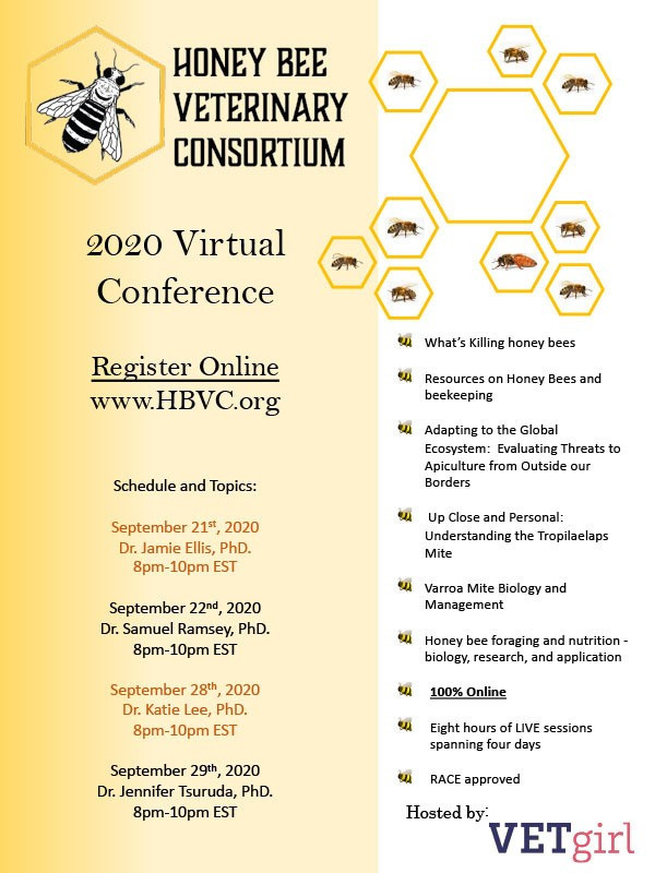 CATCH THE BUZZ – Honey Bee Veterinary Virtual Conference.