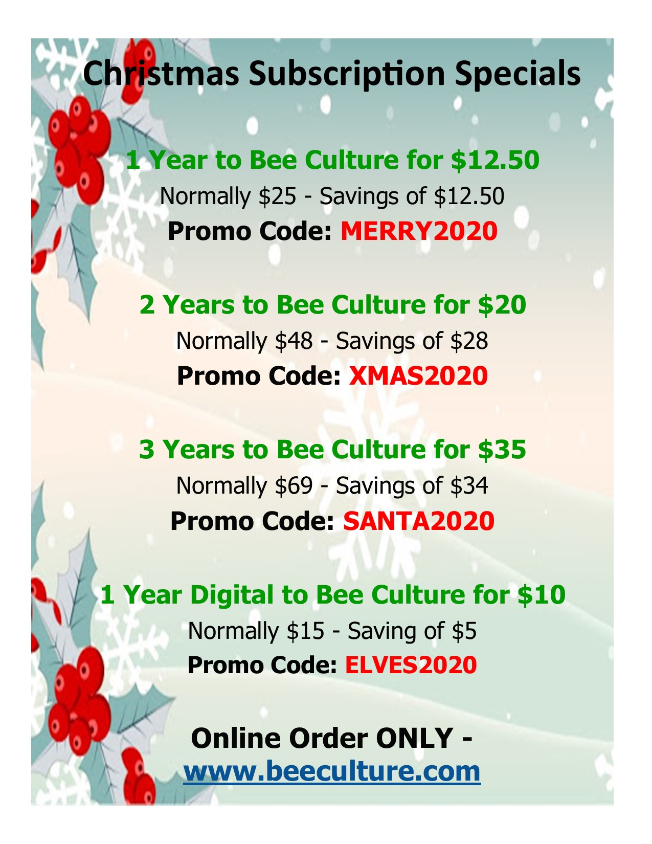 CATCH THE BUZZ – Christmas Subscription Specials – Expires TODAY!